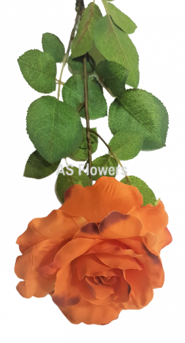 Künstliche Rose Exclusive Orange 77cm
