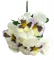Artificial Pansies Bouquet White & Lilac 8,7 inches (22cm)