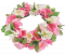 Artificial Wicker Wreath Apple blossoms O 15cm Pink